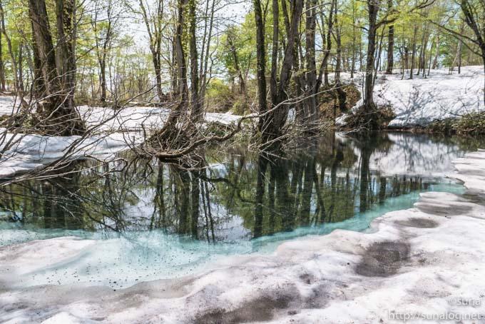 雪解けの周海沼