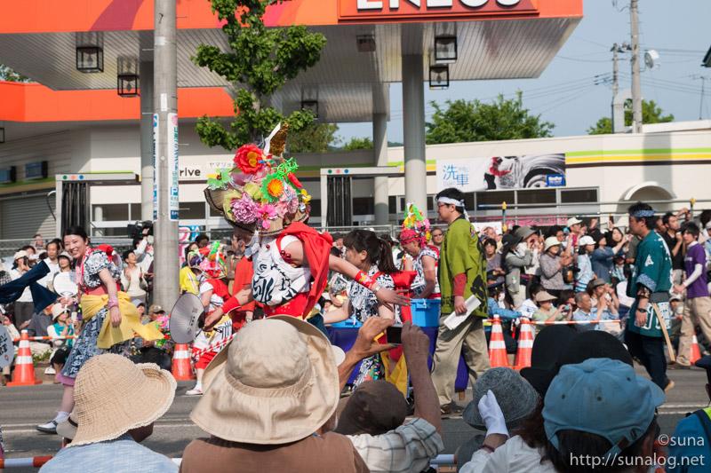 青森ねぶた祭りのハネト