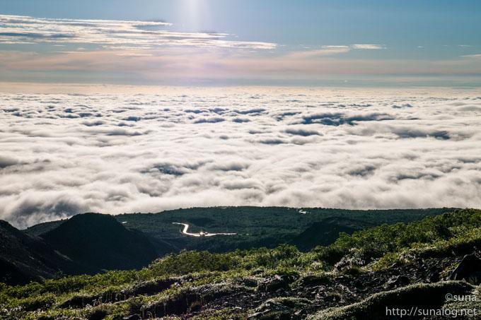 雲海に包まれる仙台平野