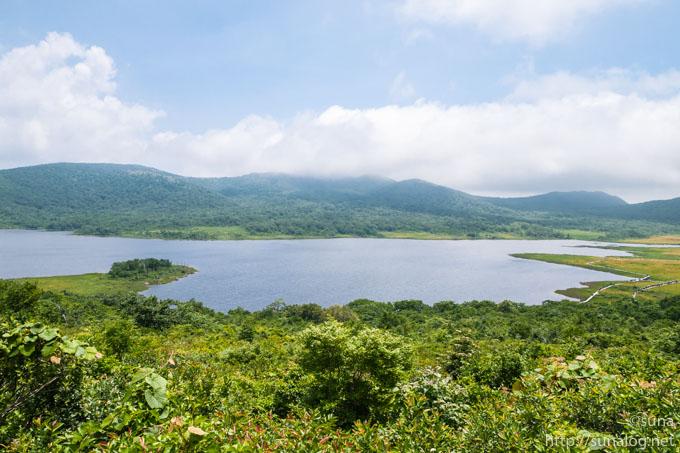 上から見る雄国沼湿原