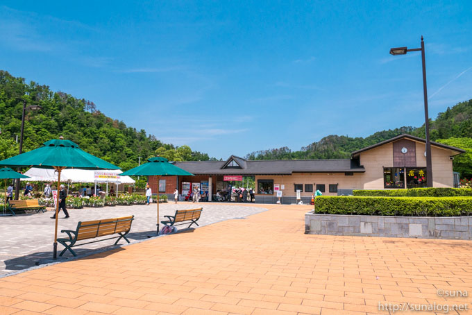 東沢バラ公園入口