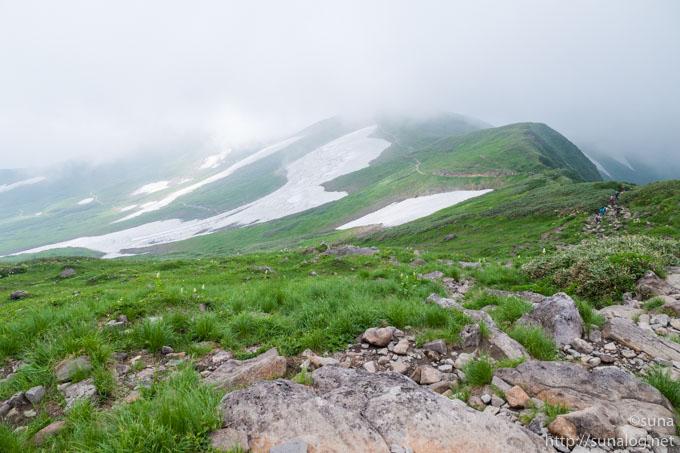 残雪の姥ヶ岳