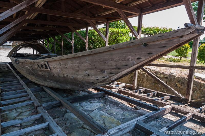 復元された小鵜飼船