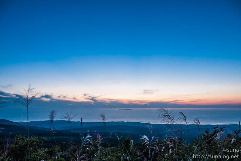 鳥海ブルーラインから見る黄昏空
