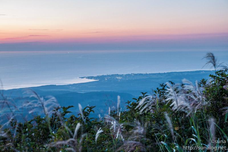 鳥海ブルーラインから見る夕焼け