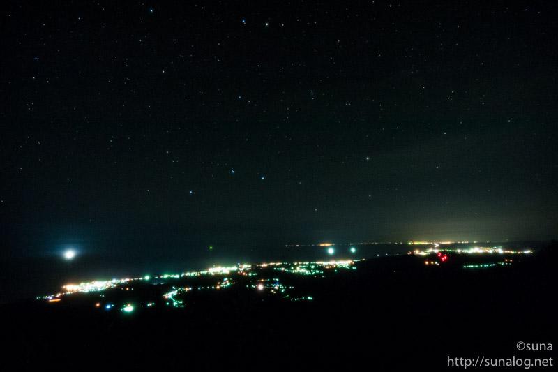 鳥海山象潟口から見た夜景