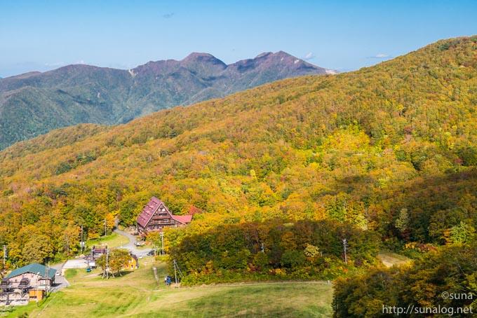 紅葉する蔵王中央高原