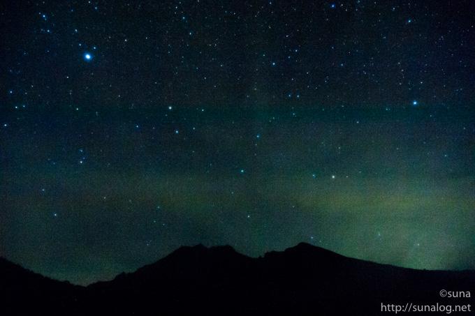 那須岳から見る星空