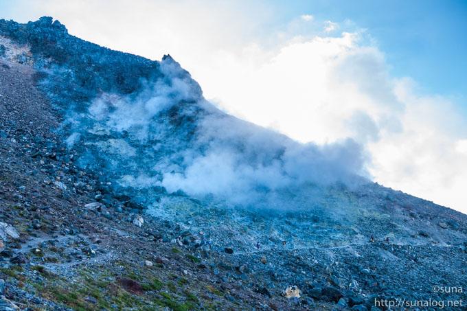 茶臼岳の噴気