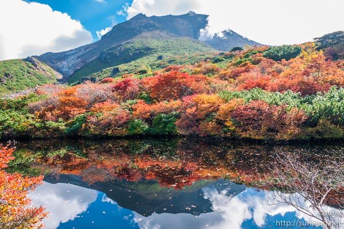 茶臼岳とひょうたん池
