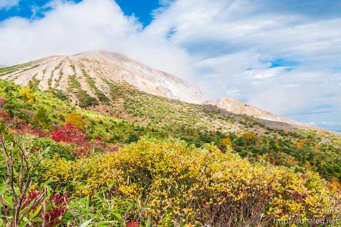 一切経山の大穴噴火口