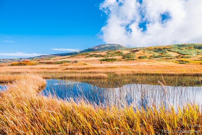 月山と弥陀ヶ原湿原