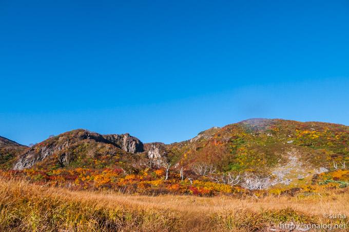 昭和湖付近の紅葉