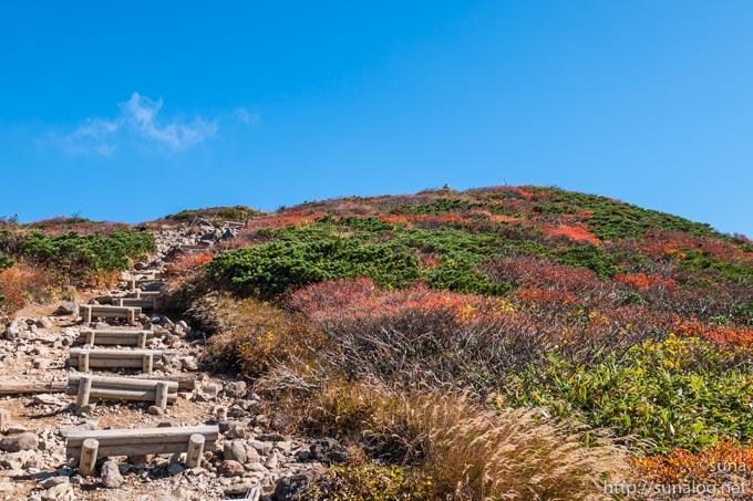 栗駒山山頂へ