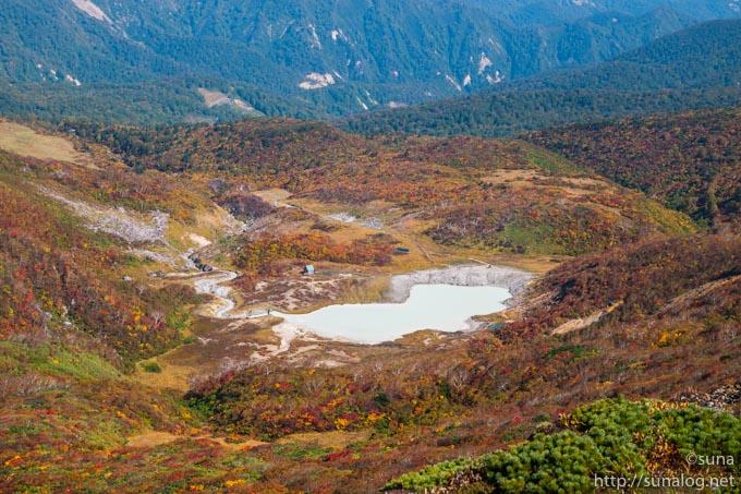 岩頭から見る昭和湖
