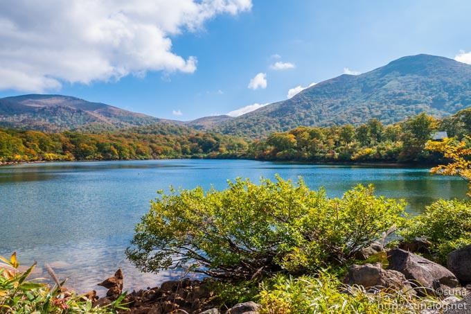 須川湖からの眺め