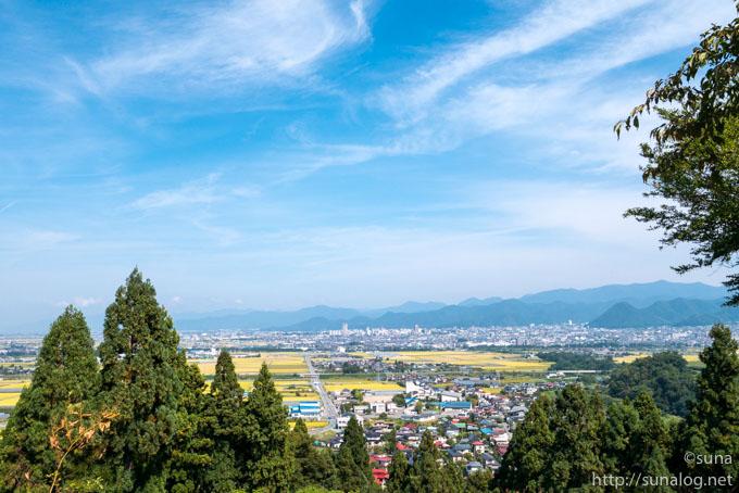 長谷堂城跡からの眺め