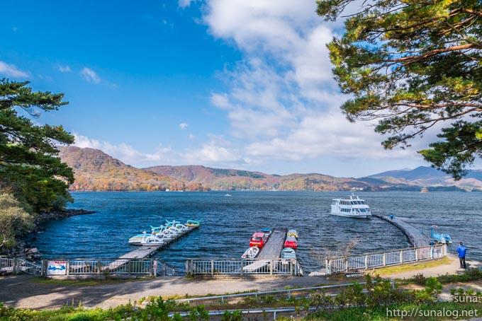 桧原湖大型遊覧船