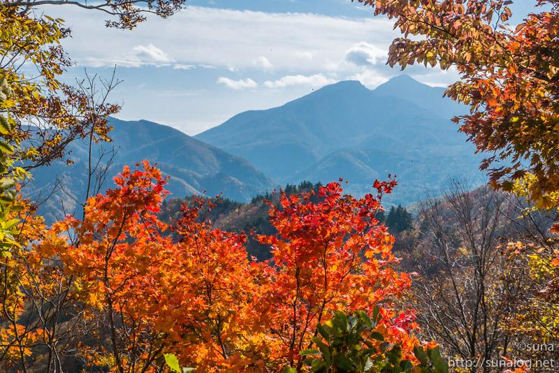 磐梯山と紅葉