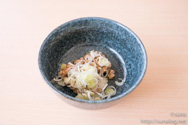 納豆とネギ