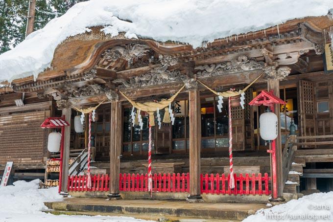 雪の熊野大社