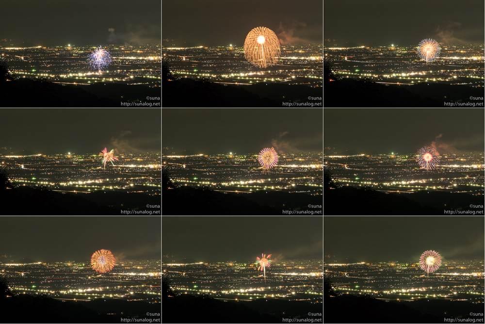GIFアニメにする花火の写真