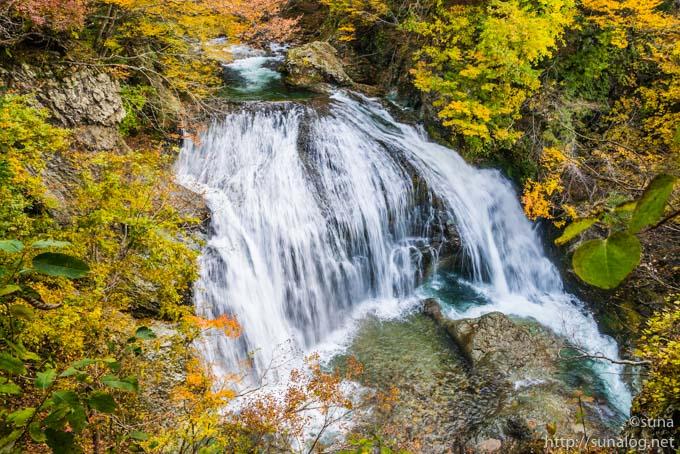 紅葉の関谷大滝