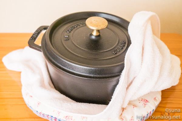 ストウブ鍋を保温