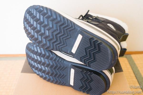 ソレル ウィンターカーニバル靴底