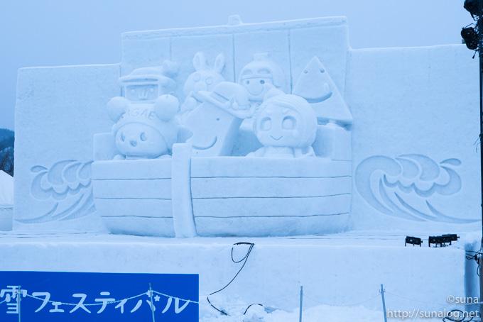 ゆるキャラの雪像