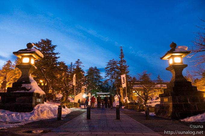 上杉神社の入り口
