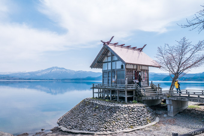 浮木神社と田沢湖と秋田駒ヶ岳