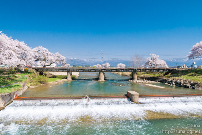斉内川の鉄橋