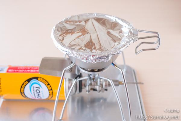 シェラカップとSOTOレギュレーターストーブで炊飯