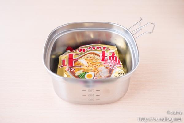 角型ラーメンクッカー+袋麺1個