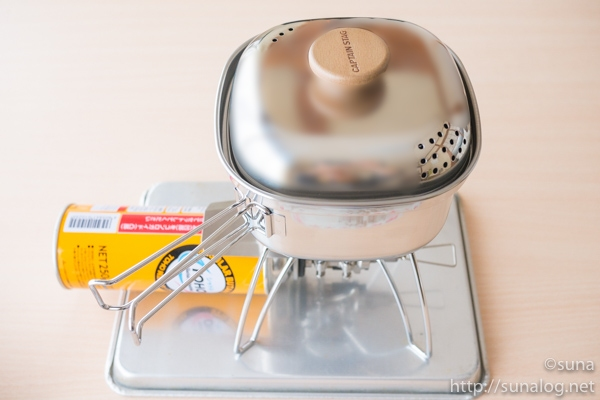 SOTOレギュレーターストーブでお湯を沸かす