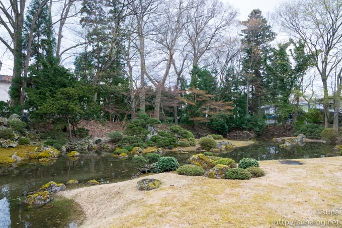 名勝「心字の池」庭園