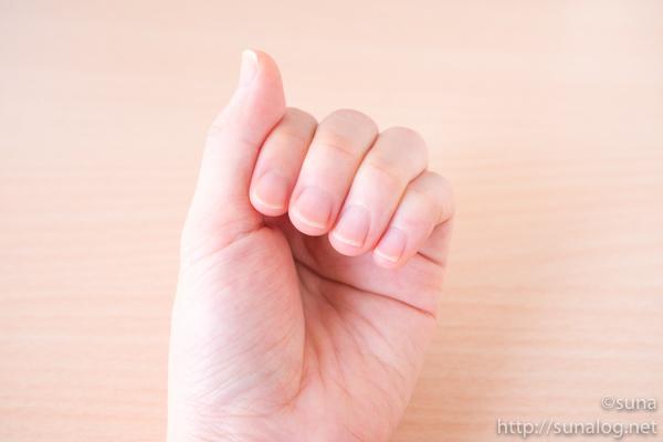 ガラス爪やすりで爪がよく削れる