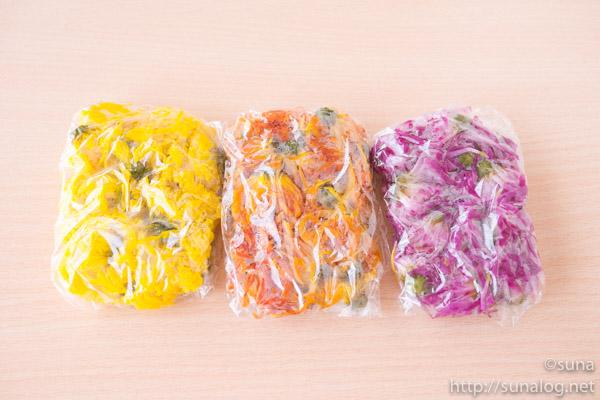 冷凍した食用菊